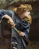 Herbert Schmalz. Imogen from The Graphic gallery of Shakespeare's heroines. Color print, 1896. Shelfmark ART Flat a24. Folger Shakespeare Library