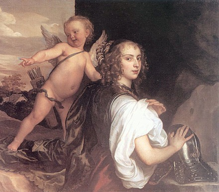 Portrait of a Girl as Erminia Accompanied by Cupid, Van Dyck 1638