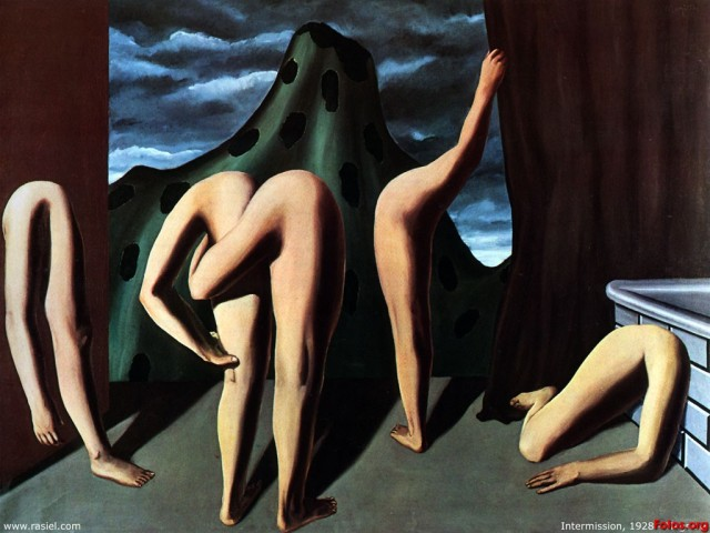 """Rene Magritte, """"Intermission"""" 1927/1928 oil on canvas"""